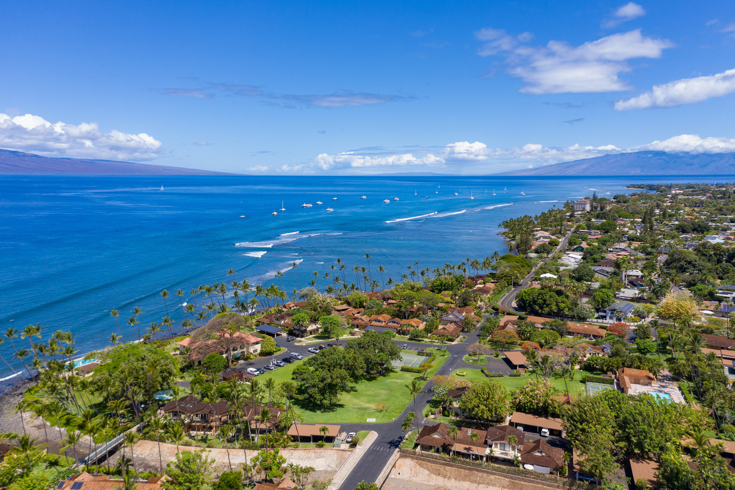 Lahaina Town West Maui Aerial Views