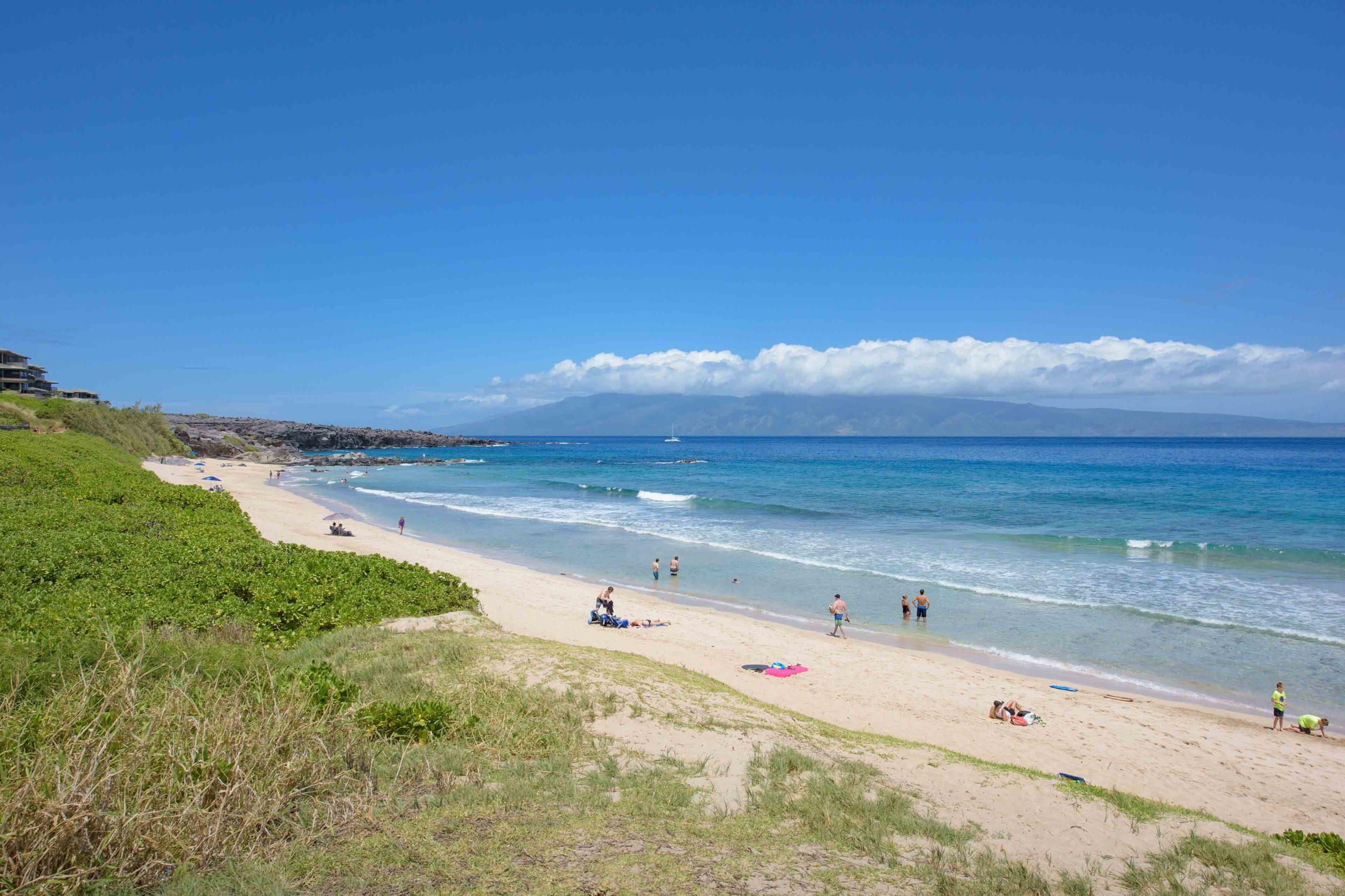 South views of Oneloa Beach or Ironwoods Beach