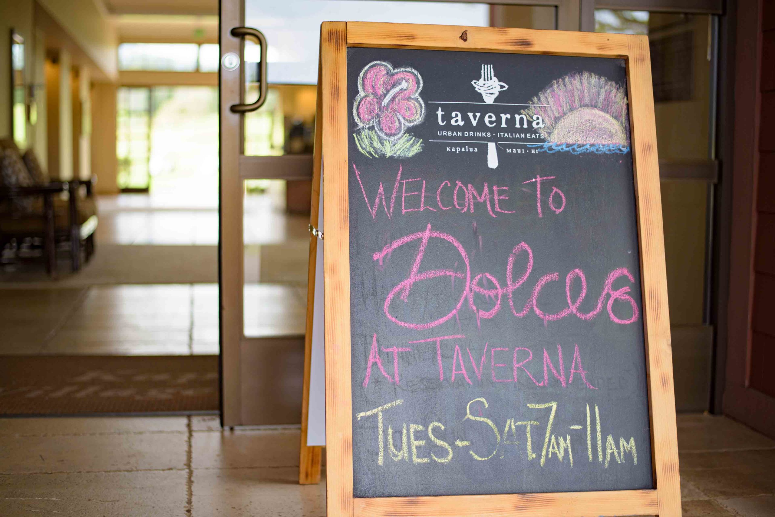 Welcome to Dolces at Taverna Kapalua