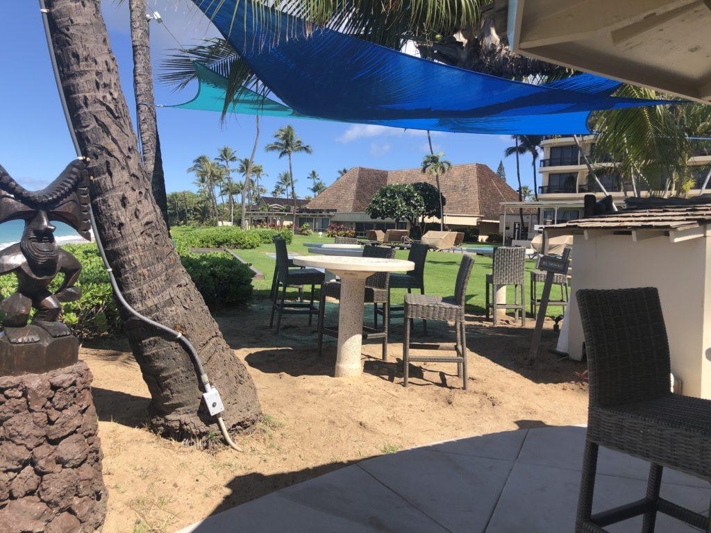 Royal Lahaina Beach Bar table