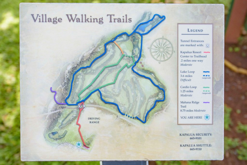 Trail Map of the Kapalua Village Trails